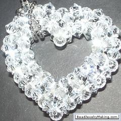 heart (beadangel) Tags: 3d heart crystal patterns bead swarovski beading beaded tutorial crystalheart 3dheart beadedheart 3dbeading