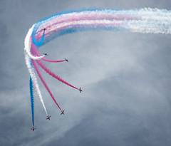 The Red Arrows (dankellys) Tags: sky cars nikon smoke flight jet f1 aeroplane racing grandprix planes redwhiteandblue redarrows nikond3200 nikkor55200mm silvestone2013