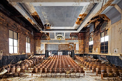 leroy's theatre (Jonathon Much) Tags: theatre theater highschool seats abandoned academic american angles architecture tiltshift depthoffield bokeh broken brokenglass brown building canon5dmkiii coloful colored crack cracked cracking crownmolding crumbling crumbled crusted crusty destroyed details deteriorating dilapidated distressed dirty exploration explore explorer exploring filthy forgotten geometric historic indoors industrial lighting old ornate oxidation painted patterns peelingpaint peeling rotten rotting rust rusted rusting rusty shadows debris decay decayed decaying stained stains textures texture urban urbandecay urbanex urbanexploration urbex windowpanes windows wrecked
