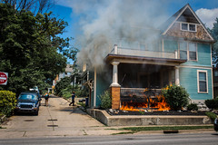 House on fire (sean lancaster) Tags: house canon fire sigma grandrapids fulton 6d 3514 sigma35 artseries canon6d seanlancaster
