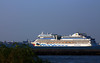 MS AIDAstella (cruise ship) leaving Bordeaux - Le Verdon  - 08 juillet 2013