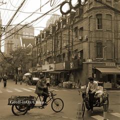 Hongkou, Shanghai, China (#01) (geoff-inOz) Tags: china city heritage architecture buildings shanghai tricycle chinese scene hongkou