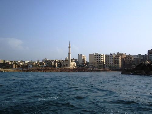 La ville vue du bateau