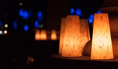 The Luminaria Installation at the RI World War II Monument