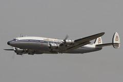 Connie (Treflyn) Tags: tattoo airplane air engine royal plan super aeroplane piston international connie lockheed prop airliner constellation propellor liner fairford breitling departs l1049 2013 hbrsc l1049f