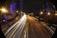 (das ruas Rude) Tags: street city light urban night de long exposure centro peixe noite olho rua fishye