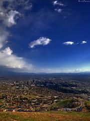 Salt Lake City. (RichTatum) Tags: blue sky nature weather clouds landscape utah rich saltlakecity iphone tatum saltlakevalley ensignpeak skyporn blogrodent richtatum iphoneography