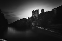 Dark Durham (Dave Brightwell) Tags: trees light bw church canon river dark photography mono flickr foto durham wear holy durhamcity hitech redsnapper durhamcathedral bwnd davebrightwell