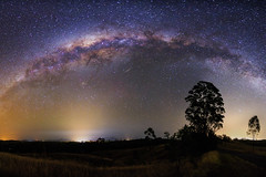 The Milky Way. (Matthew Post) Tags: nightphotography night rural canon post matthew australia astrophotography queensland tamron stitched milkyway 6d gympie stitchedimage 2875 matthewpost