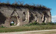 Ruins of an old church - Iglesia vieja destruida en San Juan Cancuc, Chiapas, Mexico (Lon&Queta) Tags: latinamerica mexico ruins flickr churches gps chiapas 2007 mex panoramio sanjuancancuc