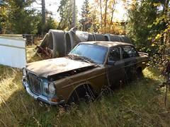 DSCN3494R (Flash 86) Tags: old abandoned car volvo junk rust sweden bil 164 vehicle sverige rost skrot gammal skrotbil fordon vergiven skogsvrak