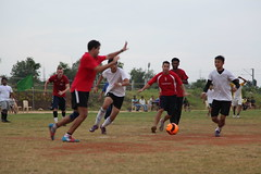 A student vs. staff match with TGS and IISH (Mokilla, India) (THINKGlobalSchool) Tags: india sports football hyderabad indus lclark iish