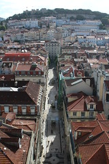 Lisbon from the Elevador de Santa Justa (10b travelling) Tags: portugal architecture europa europe lisboa lisbon elevator platform lissabon viewing elevador santajusta elevadordesantajusta 2013 carstentenbrink iptcbasic