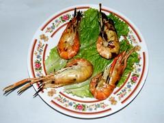 #2713 grilled shrimp (Nemo's great uncle) Tags: food lunch shrimp vietnam mekongdelta mytho      hipbotunsquare