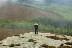 King of the Hill (MigKenzie Photos) Tags: street uk trees mist man weather rock fog forest hair james scotland cloudy britain hill windy mackenzie aberdeen f rolling vision:mountain=067 vision:outdoor=0945 vision:sky=0548 migkenzie