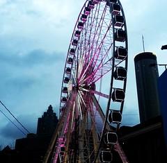 rainy twilight wheel (BoringPostcards) Tags: atlanta wheel georgia evening twilight ferris potd2013