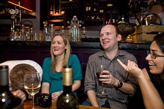 A dinner for Colin (Gary Kinsman) Tags: flickrandroidapp:filter=none delaziz bankside london se1 canveystreet canon5d canon28mmf18 restaurant dinner flash canonspeedlite430exmkii laugh funny fun point candid unposed 2010 people person