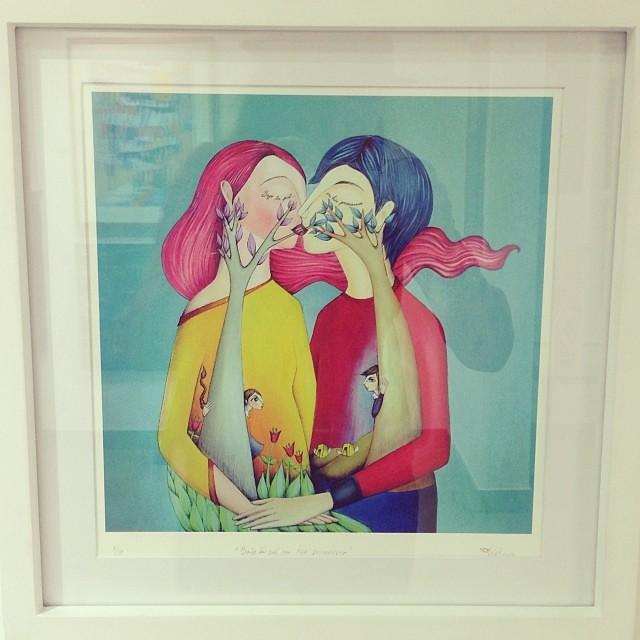 """""""Bajo tu piel me hice primavera"""" de Lici Ramírez • Bazarte #bazarte #arteenlima #artinlima #arte #art #artist #artista #pintura #painting"""