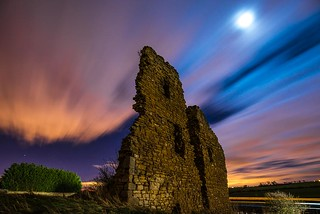 ludworth tower by night-ludworth, county durham, uk