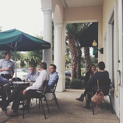 Social Hour #cafe #orlando #people #streetphoto (ahh.photo) Tags: street people coffee shop square lunch cafe orlando break florida outdoor social starbucks squareformat conversation talking iphoneography instagramapp
