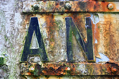 Raglan Sign 2 (pvcfairy1978) Tags: sign wales rust letters rusty letter wyevalley fingerpost