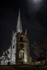 St. James' Church, Anston (Steve Whitham - BGphotography) Tags: old longexposure church stone architecture night nikon worship religion historic spire rotherham southanston d5200 stjameschurchanston