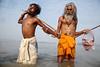 Rituals in Gandak - Sonepur, India (Maciej Dakowicz) Tags: india river prayer religion ceremony fair event ritual puja trance mela bihar sonepur gandak sonepurmela