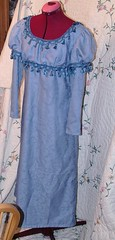 front angle (sunshine's creations) Tags: blue costumes play handmade sewing fringe pride prejudice