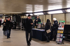 Jehovah's Witnesses, Brooklyn Bridge Subway Station (InSapphoWeTrust) Tags: usa newyork unitedstates manhattan unitedstatesofamerica creationism northamerica christianity lowermanhattan downtownmanhattan jehovahswitnesses newyorkcitysubway
