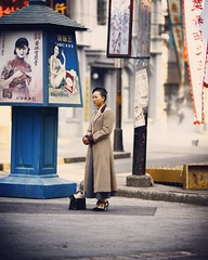 She's come a long way~ Shanghai (~mimo~) Tags: retro photography street woman songjiang cinema old portrait asia china shanghai