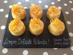 Gluten Free, dairy free Lemon Polenta Cakes!