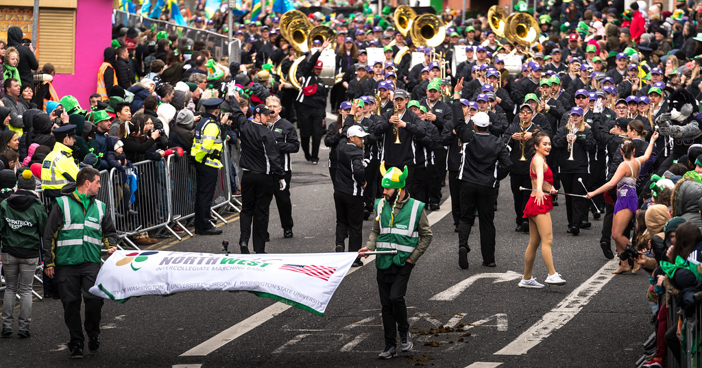 Pacific Northwest Intercollegiate Marching Band [St. Patricks Day Parade In Dublin 2017]-125712