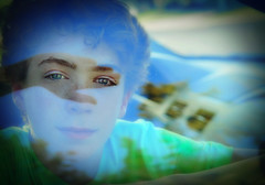 Pondering (iamamylou) Tags: boy tween youth blueeyes handsome cute pondering reflection window hand color portrait carwindow