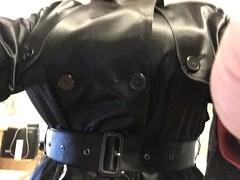 IMG_0669 (tightlaced) Tags: satin rubberised mackintosh weathervain rainwear rubber trenchcoat
