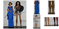 Diana Prince Doll ReviewComparasion (DisneyBarbieCollector) Tags: mattel wonder woman diana prince dolls dc toys collectibles
