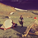 Iceland Republic ~ Camp Site Drying   ~ Trekking Bed Down thumbnail