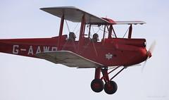 De Havilland DH-60G Gipsy Moth. G-AAWO Lee on Solent Airfield 2017 (SupaSmokey) Tags: de havilland dh60g gipsy moth gaawo lee solent airfield 2017
