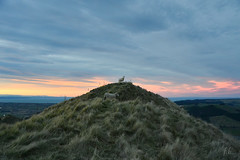 King of Sheeps... (Fab2brest) Tags: newzealand nouvellezélande travel voyage yearoff sheep hills greengrass sunset