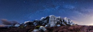 Simon's Seat at night