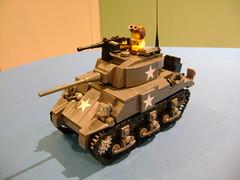 Lego custom Sherman M4A4 completed (tekmoc17) Tags: ww2 lego tank sherman brick custom moc stars usa m4a4