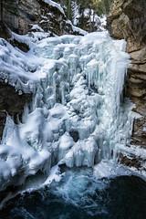 Johnston Canyon (haas.evan) Tags: purple water river ice winter canyon johnstoncanyon banffnationalpark canada