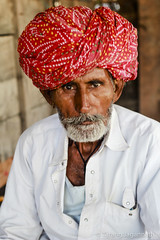 People on the road - 365 Portrait Project - Day 94 (Tarang Jagannath) Tags: 365portrait portrait real people oldpeople village man india turban red face human