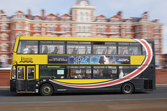 Blackpool Transport (Neil Pulling) Tags: blackpool lancashire seasideresort bus transport doubledecker panning pj02pyl