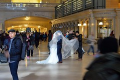 Time stands still (grumpyff) Tags: ny nyc newyorkcity newyork gct grandcentralterminal public people happy celebration bride groom wedding