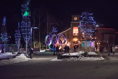 20170320_0087_1 (Bruce McPherson) Tags: brucemcphersonphotography lowlight nightphotography coloredlights whistlerbynight firstdayofspring winter spring snow whistler bc canada