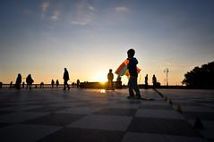 Leghorn (Marco Forgione) Tags: livorno terrazza tramonto toscana tuscany leghorn mascagni grandangolo controluce street roller