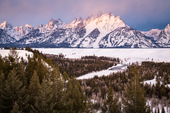 Snake River Overlook (Jeremy Duguid) Tags: grand teton national park march tetons snake river overlook sunrise morning dawn peaks travel nature landscape landscapes hiking outdoors trees clouds jeremy duguid sony winter snow wyoming west western usa