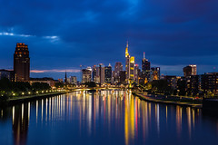 (graveur8x) Tags: frankfurt germany city cityscape lights main river bridge bridges dusk sunset clouds night reflections nature stadt deutschland bank banks office skyscrapers sky water buildings urban contrast canon canoneos6d ef2470mmf28lusm 2470 explore explored