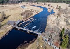 Kurgja vesiveski (BlizzardFoto) Tags: kurgja türitorikiirlaskumine the8thtüritoridownriverrace türitori kiirlaskumine downriverrace kanuu canoe kajakk kayak river jõgi võistlus race kevad spring vesi water droonifoto dronephotography aerofoto aerialphotography