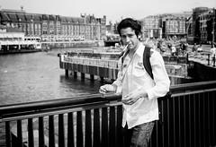 Professional Quasi Cool (BotaFriko) Tags: amsterdam straatfotografie guy sigarette boy youngman d7000 streetphotography blackandwhite